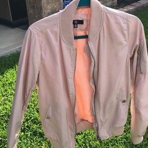 Missguided nudish pink bomber jacket